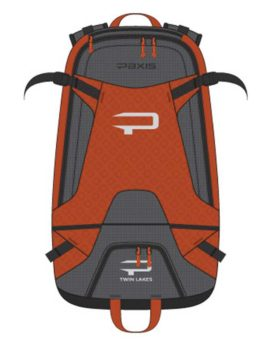 twin lakes paxis backpack madrona rust orange