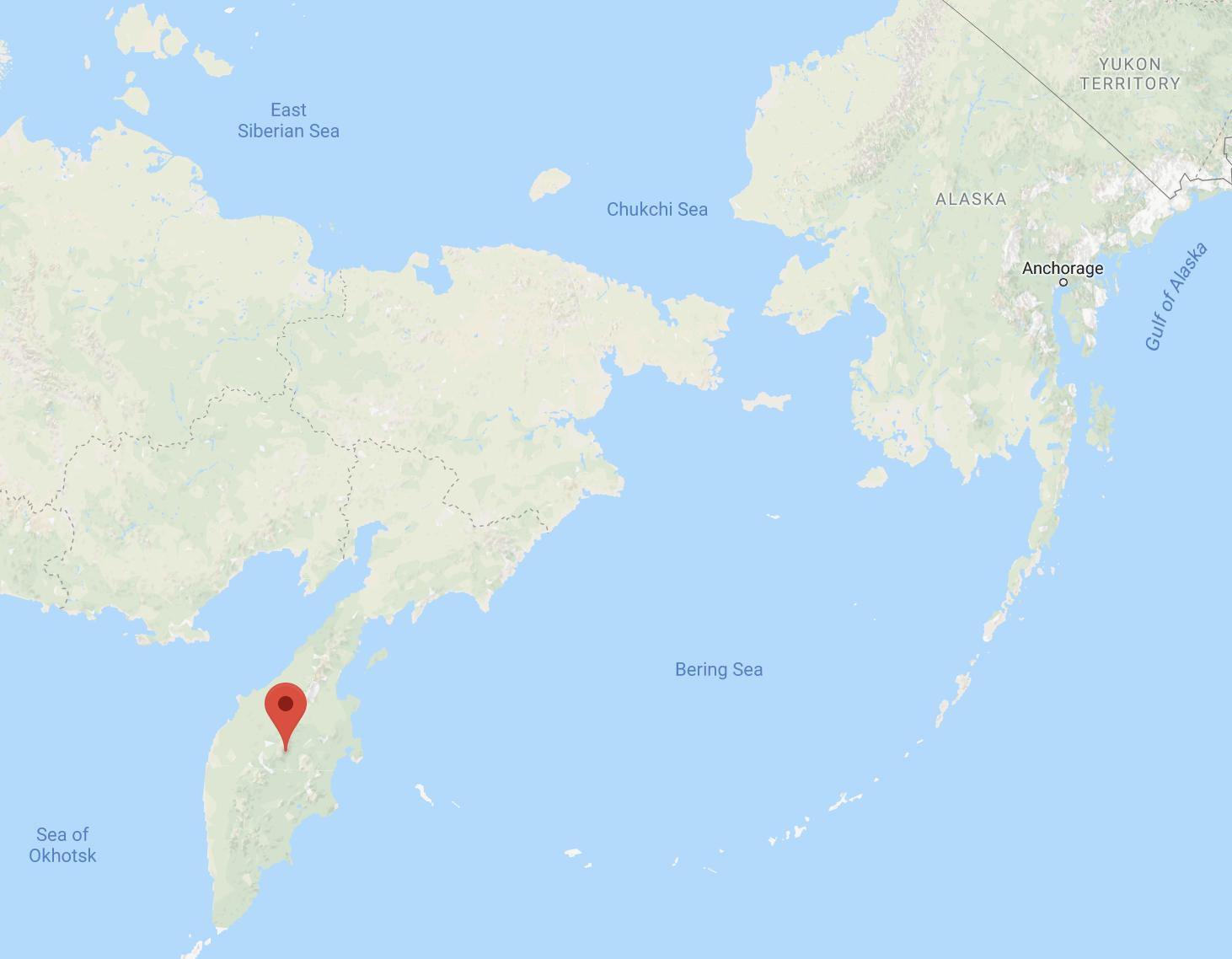Kamchatka Russia map