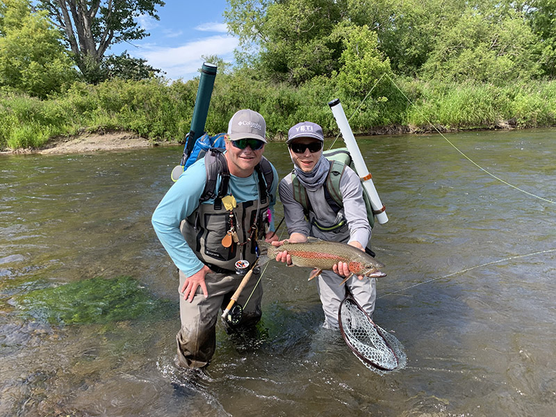 brown trout fishing in Kamchatka